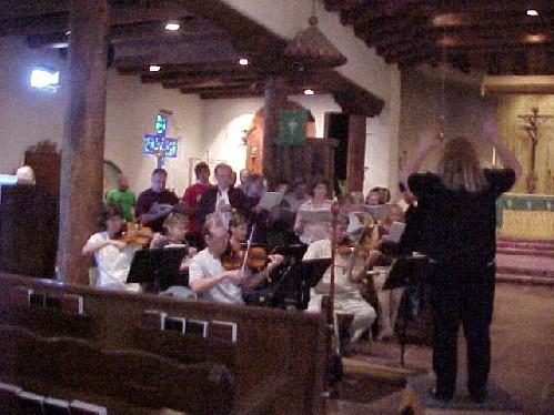 the choir rehearses