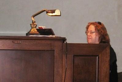 Jane Haman at the organ